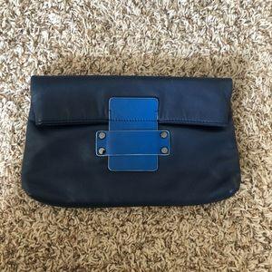 Cole Haan Clutch Navy & Cobalt Blue Leather